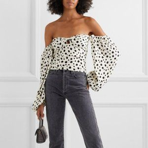Reformation Simi Top in Ink Blot size 2 NWT